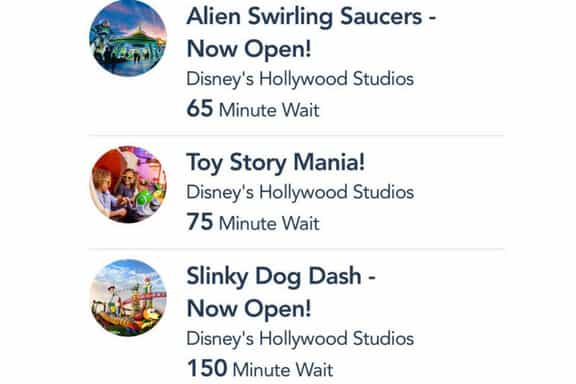 FastPass selections