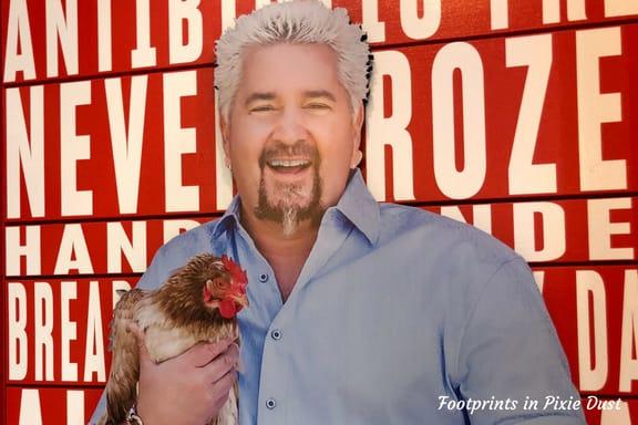 Guy Fieri portrait found in Chicken Guy restaurant