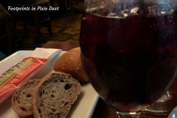 Italian Special Sangria with bread plate ~ Photo credit: Tina M. Brown