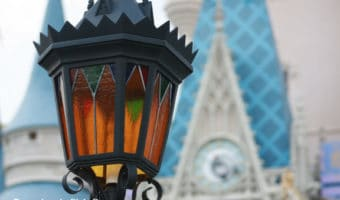 Light post and Cinderella Castle ~ Photo credit: Tina M. Brown