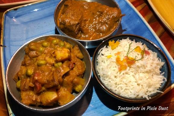 Braised Beef with Aloo Masala and Basmati Rice ~ Photo credit: Tina M. Brown