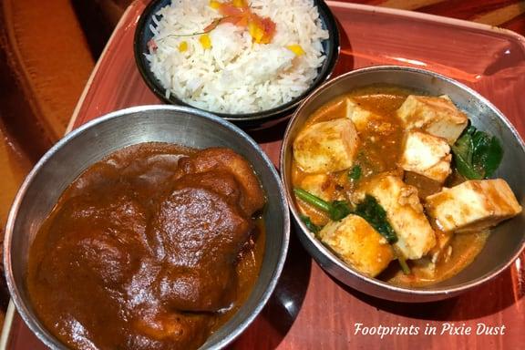 Spicy Durban Shrimp with Paneer Tikka and Basmati Rice ~ Photo credit: Tina M. Brown