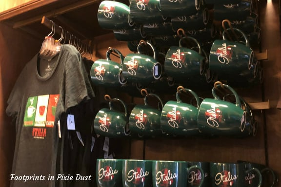 Merchandise in Italy Pavilion ~ Photo credit: Tina M. Brown