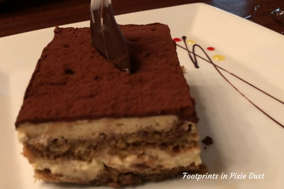 Mocha Tiramisu at Tutto Italia Ristorante ~ Photo credit: Tina M. Brown