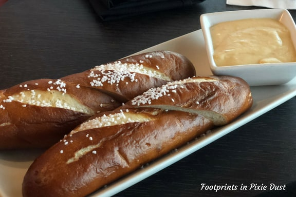 Soft Pretzel Breadsticks with Orlando Brewing Company Brown Ale Cheese Fondue ~ Photo credit: Tina M. Brown