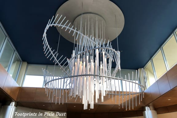 Top of the World Lounge chandelier ~ Photo credit: Tina M. Brown