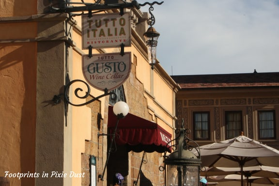 Tutto Gusto Wine Cellar in Italy Pavilion ~ Photo credit: Tina M. Brown