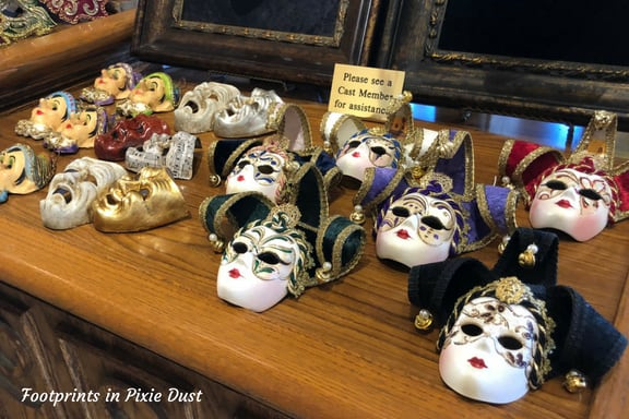 Venetian paper mache masks ~ Photo credit: Tina M. Brown