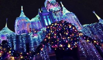 Sleep Beauty Castle decked out in lights ~ Photo Courtesy of Get Away Today