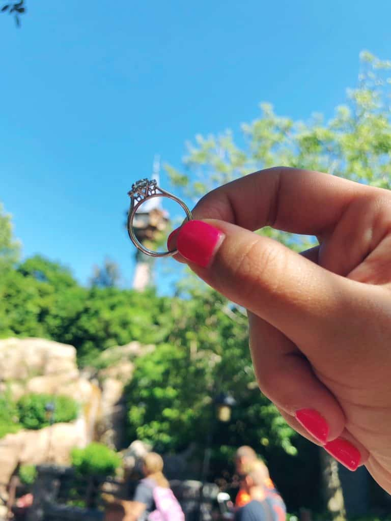 The Hidden Mickey engagement ring ~ Photo courtesy of Katie & Dustin