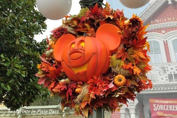 Autumn Mickey Wreath at Magic Kingdom ~ Photo credit: Tina M. Brown