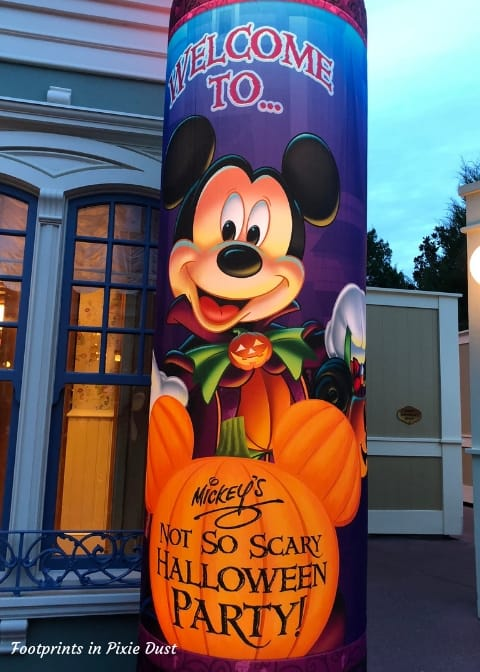 Entrance to Mickey's Not-So-Scary Halloween Party ~ Photo credit: Tina M. Brown