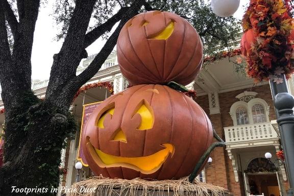Fall Decor at Magic Kingdom ~ Photo credit: Tina M. Brown