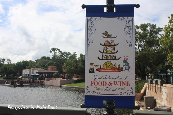 Food & Wine sign near France Pavilion ~ Photo credit: Tina M. Brown
