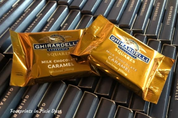 Ghirardelli chocolates - the free ones ~ Photo credit: Tina M. Brown