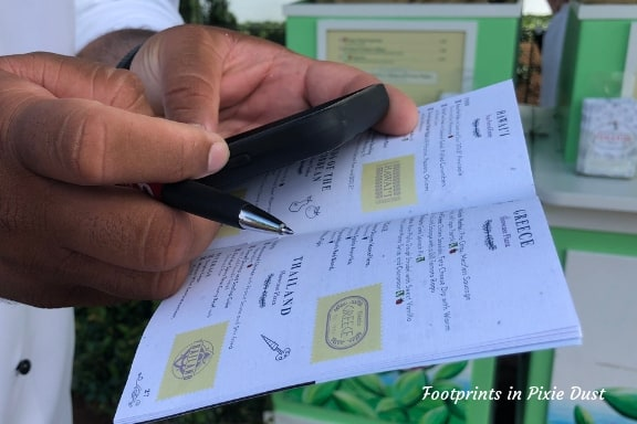 Going through the Festival Passport ~ Photo Credit: Tina M. Brown