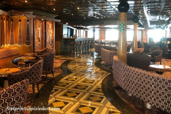 Leonardo Lounge aboard Carnival Paradise ~ Photo Credit: T.M. Brown