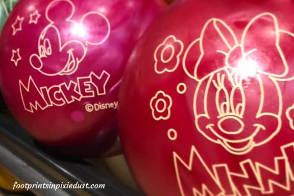Mickey Mouse and Minnie Mouse Bowling Balls ~ Photo credit: Tina M. Brown