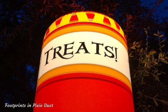 Treat Location Sign ~ Photo credit: Tina M. Brown
