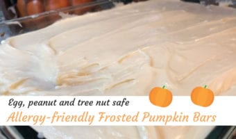 Allergy-Friendly frosted pumpkin bars ~ Photo credit: Tina M. Brown