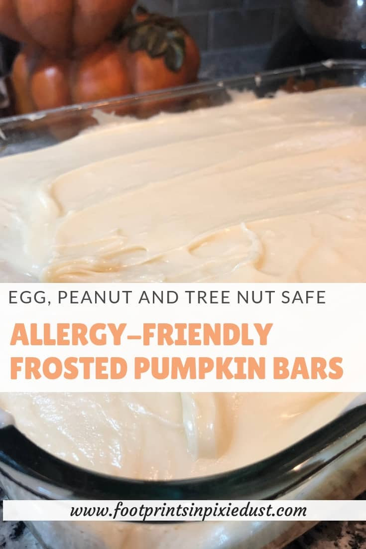 Allergy-Friendly frosted pumpkin bars recipe