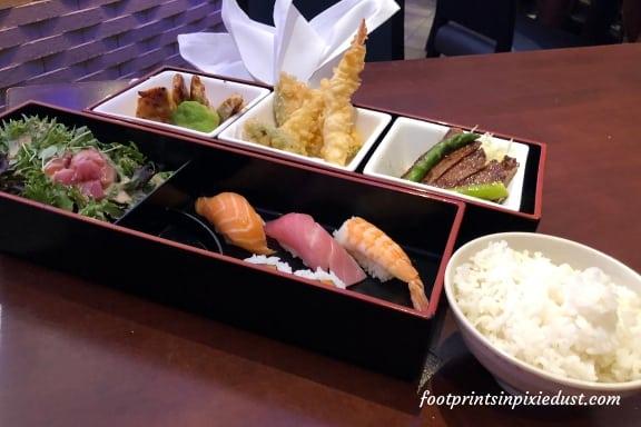 Chef Selection Bento Box at Tokyo Dining ~ Photo credit: Tina M. Brown