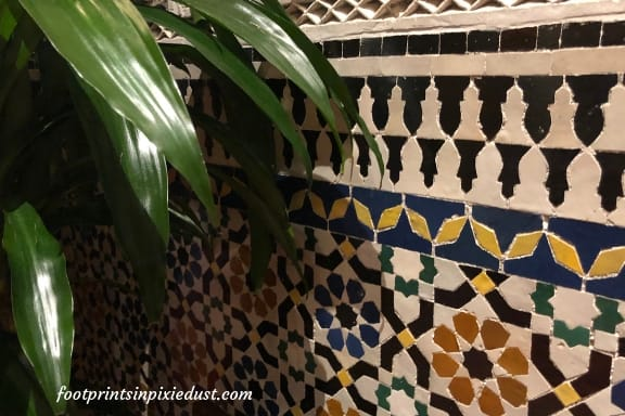 Closer look at the tile work