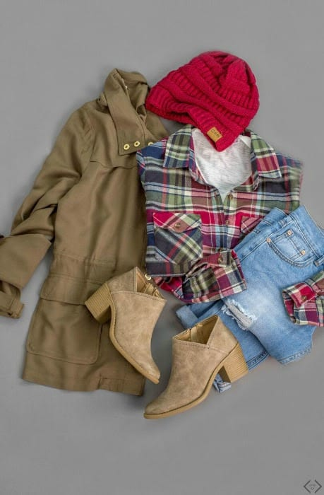 Flannel with jeans and boots
