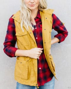 Flannel with yellow vest
