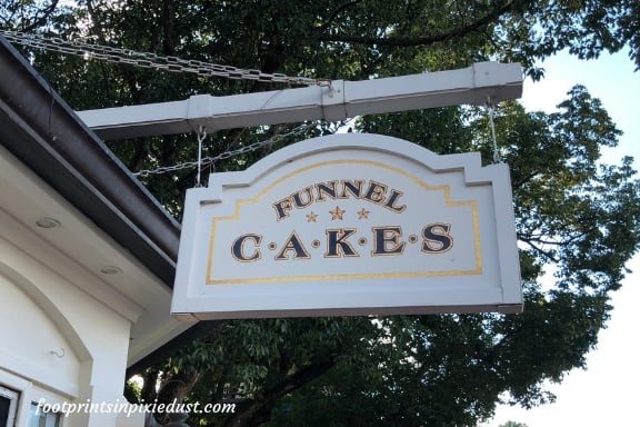 Funnel Cake sign at the American Adventure pavilion