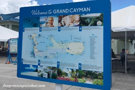 Grand Cayman map ~ Photo credit: Tina M. Brown