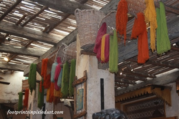 In the Morocco marketplace in Epcot