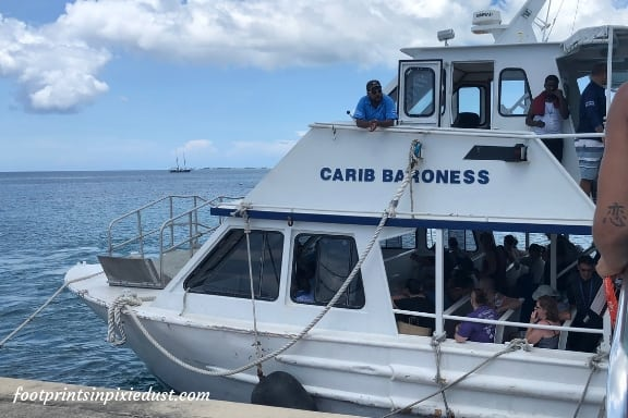 One of the tender boats to and from the ship ~ Photo credit: Tina M. Brown