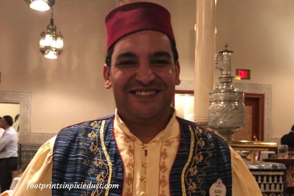 Our wondeful Cast Member, Alaoui, at Restaurant Marrakesh