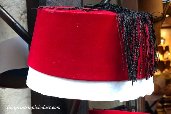 The famous Fez hat in the Morocco Pavilion at Epcot