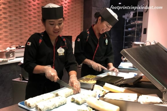 Tokyo Dining - sushi roll creations ~ Photo credit: Tina M. Brown