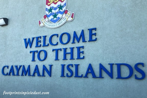 Grand Cayman Istlands Welcome sign ~ Photo credit: Tina M. Brown