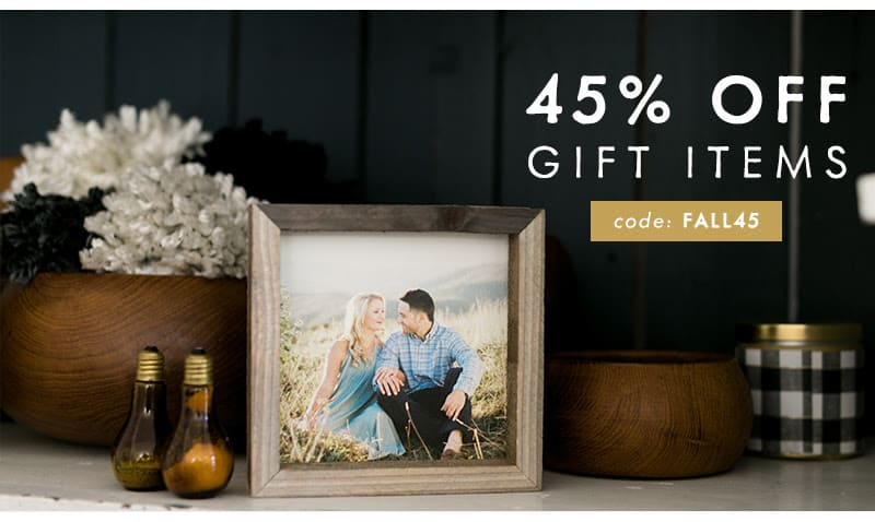 45% off gift items ~ Photo Barn