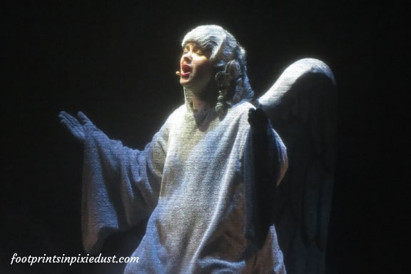 Angel in A Dickens' Christmas Carol at Silver Dollar City