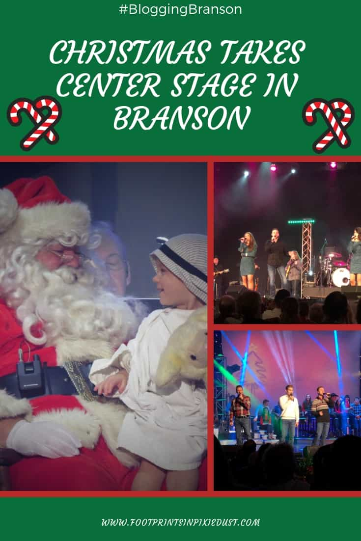 Christmas Takes Center Stage in Branson ~ #BloggingBranson #hosted #ozarkmountainchristmas #baldknobbers #hughesmusicshow #claycooper #branson #footprintsinbranson #music #entertainment #family #familytravel #travel