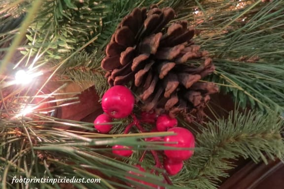 Christmas decor from Stone Castle hotel room