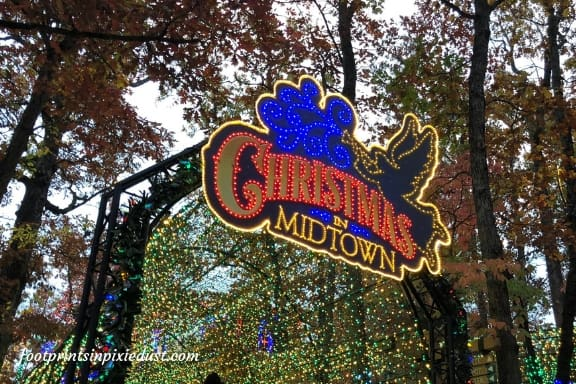 Christmas in Midtown lights at Silver Dollar City