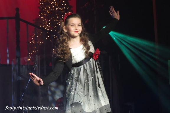 Hughes daughter tap-dancing during Hughes Christmas Show