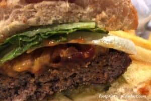 Montana Mike's Hamburger basket (lunch menu)