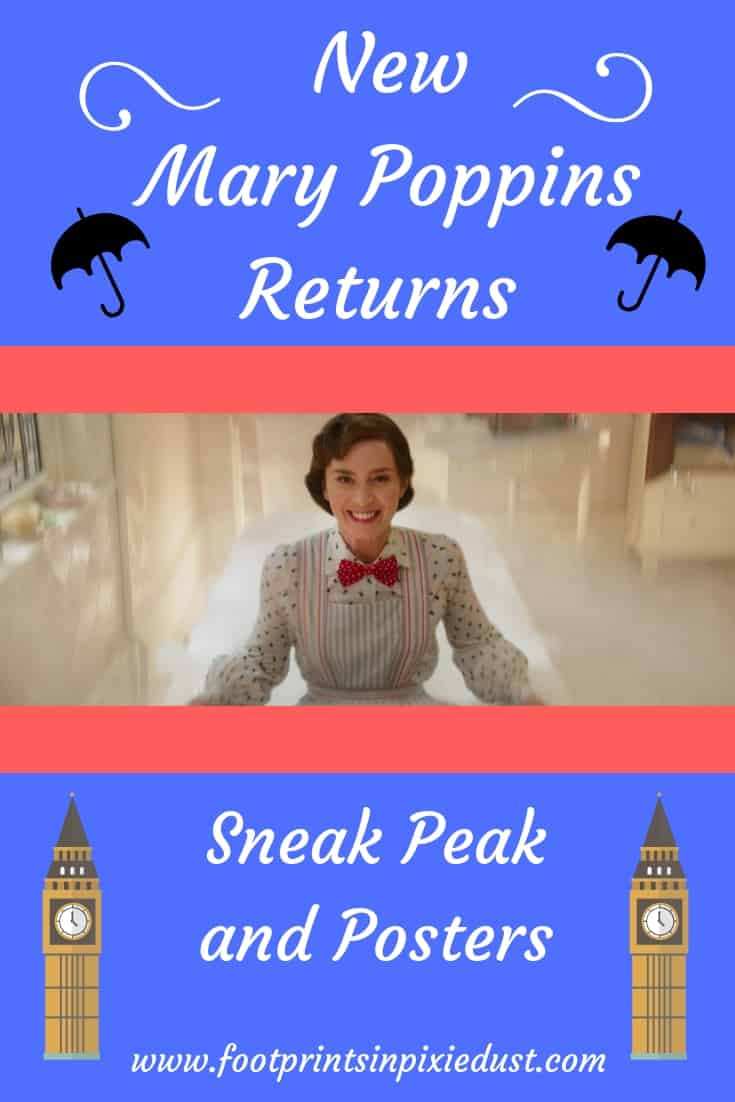 New Mary Poppins Returns Sneak Peek and Posters ~ #MaryPoppinsReturns #sneakpeek #posters