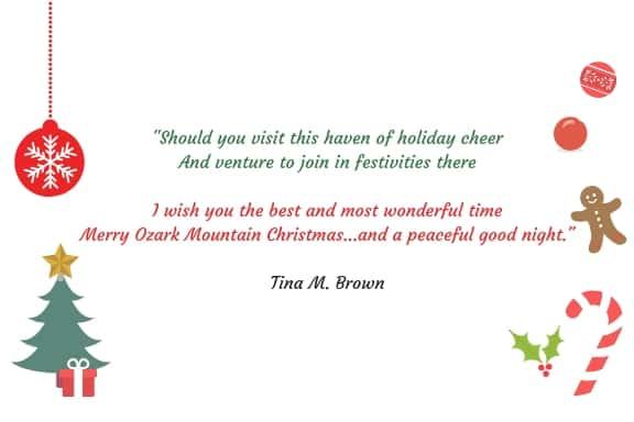 Ozark Mountain Christmas Poem by Tina M. Brown