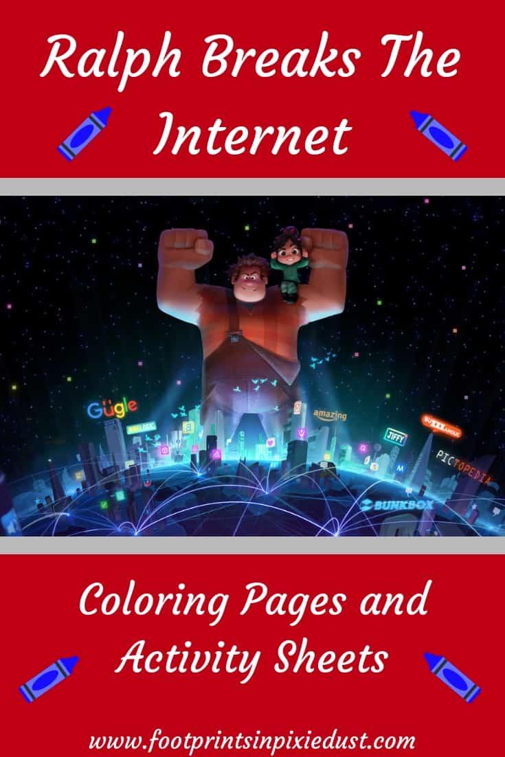 Ralph Breaks The Internet ~#rRalphBreaksTheInternet #coloringpages #activitypages #printables