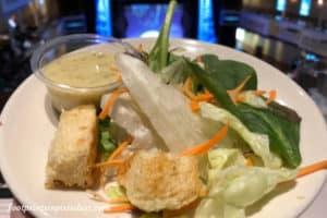 Salad aboard the Showboat Branson Belle