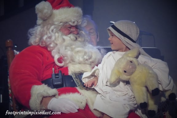 Santa and shepherd from Hughes Christmas Show