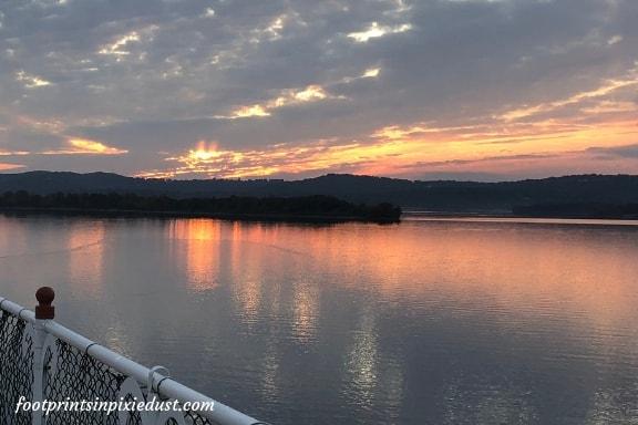 Sunset aboard the Showboat Branson Belle